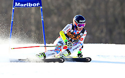 21.02.2015, Pohorje, Maribor, SLO, FIS Weltcup Ski Alpin, Maribor, Riesenslalom, Damen, 1. Lauf, im Bild Taina Barioz (FRA) // Taina Barioz of France during the 1st run of ladie's Giant Slalom of the Maribor FIS Ski Alpine World Cup at the Pohorje in Maribor, Slovenia on 2015/02/21. EXPA Pictures © 2015, PhotoCredit: EXPA/ Erwin Scheriau