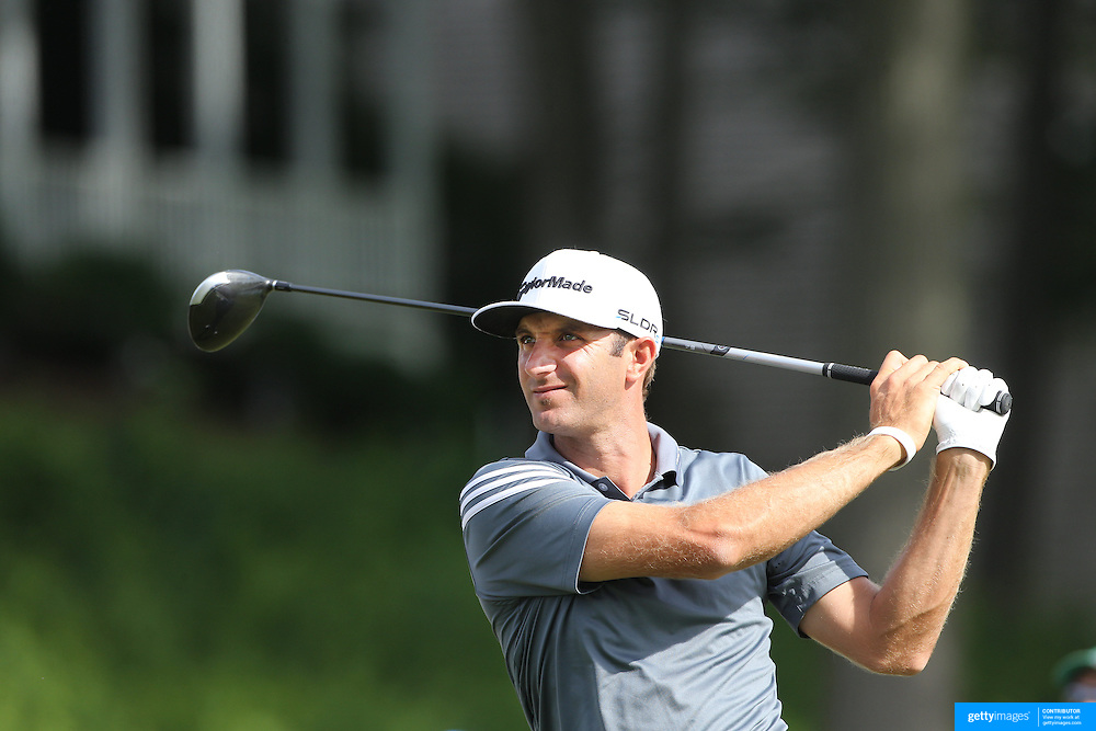Dustin Johnson, USA, in action during the third round of the Travelers Championship at the TPC River Highlands, Cromwell, Connecticut, USA. 21st June 2014. Photo Tim Clayton