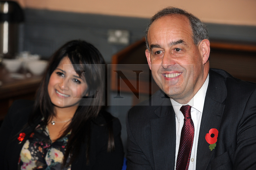 © Licensed to London News Pictures. 27/10/2014<br /> MP David Hanson  Labour Shadow Minister in Medway,Kent this afternoon (27.10.2014) at Brook Theatre Chatham to Visit by-Election candidate Naushabah Khan and talk to local people.<br /> <br /> (Byline:Grant Falvey/LNP)
