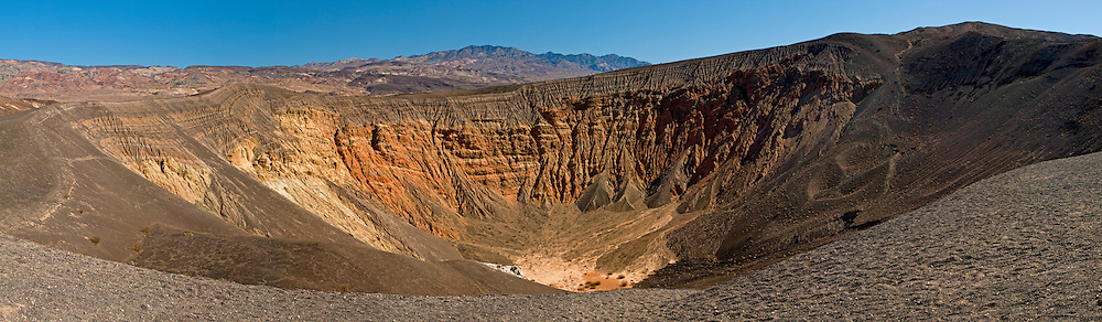 Panorama of Ubehebe Crater, Death Valley National Park, California