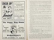All Ireland Senior Hurling Championship Final,.Brochures,.04.09.1949, 09.04.1949, 4th September 1949, .Tipperary 3-11, Laois 0-3, .Minor Kilkenny v Tipperary, .Senior Tipperary v Laois, .Croke Park, ..Advertisements, Lemon's Pure Sweets, Knocknagow Charles J Kickham's Famous Novel M H Gill & Son Ltd Publishers, McDowell's The Happy Ring House, ..Articles, Long Pucks,