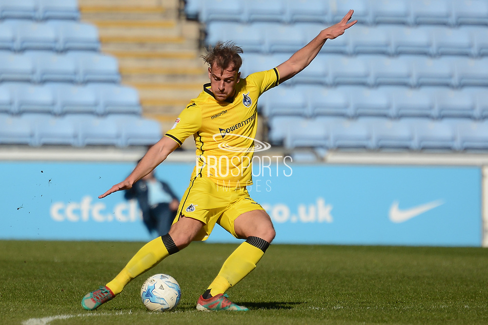 Coventry City midfielder Callum Maycock (35) 0-0 during the EFL Sky Bet League 1 match between Coventry City and Bristol Rovers at the Ricoh Arena, Coventry, England on 25 March 2017. Photo by Alan Franklin.