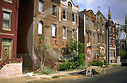 The Slums, Boarded Up Houses, North Philadelphia, PA