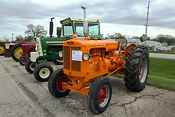 04 May 2013:   Arranged to coincide and be a part of the Red Corridor Route 66 festival, the village of Lexington hosts an antique tractor show.  Roger Whaley is the chairman of the organizing committee. 1949 Minneapolis Moline model G.