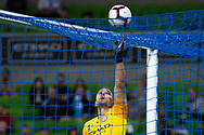 MELBOURNE, AUSTRALIA - APRIL 13: Melbourne City goalkeeper Eugene Galekovic (18) attempts to obtain the ball from the net during round 25 of the Hyundai A-League soccer match between Melbourne City FC and Adelaide United on April 13, 2019 at AAMI Park in Melbourne, Australia. (Photo by Speed Media/Icon Sportswire)