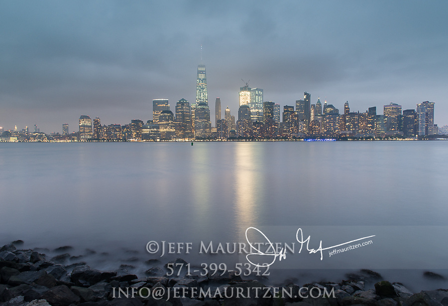 View of downtown Manhattan, New York City viewed from Liberty State Park, NJ.
