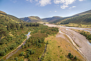 Regenerating woodland along the river feshie. Glenfeshie in the Cairngorms Connect area, Scotland.