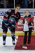 KELOWNA, CANADA - OCTOBER 05: Second Star of the game Liam Kindree #26 of the Kelowna Rockets at the Kelowna Rockets game on October 05, 2018 at Prospera Place in Kelowna, British Columbia, Canada. (Photo By Cindy Rogers/Nyasa Photography, *** Local Caption ***