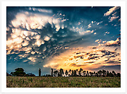 Mammatus clouds at sunset. A remarkable angry sky following a wild Boxing Day thunderstorm [Inverell, NSW]. Read about this photo shoot on the Blog: <br />