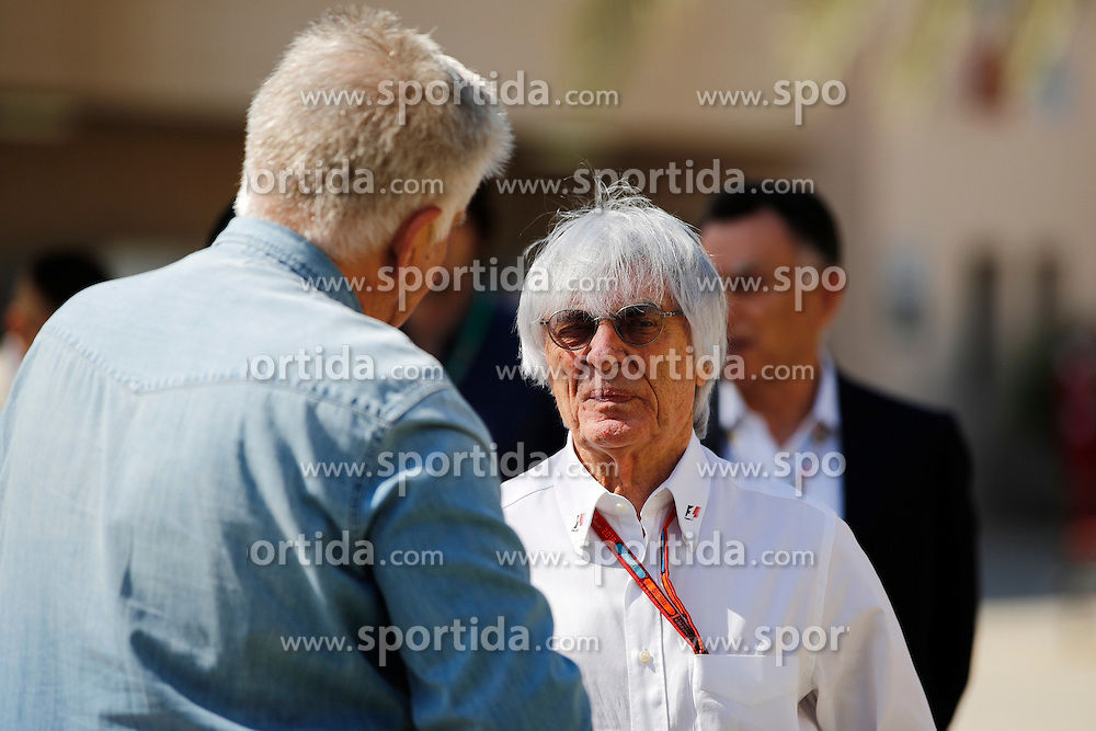03.04.2016, International Circuit, Sakhir, BHR, FIA, Formel 1, Grand Prix von Bahrain, Rennen, im Bild Bernie Ecclestone (GBR) CEO Formula One Group (FOM) // during Race for the FIA Formula One Grand Prix of Bahrain at the International Circuit in Sakhir, Bahrain on 2016/04/03. EXPA Pictures &copy; 2016, PhotoCredit: EXPA/ Sutton Images/ Gasperotti/<br /> <br /> *****ATTENTION - for AUT, SLO, CRO, SRB, BIH, MAZ only*****