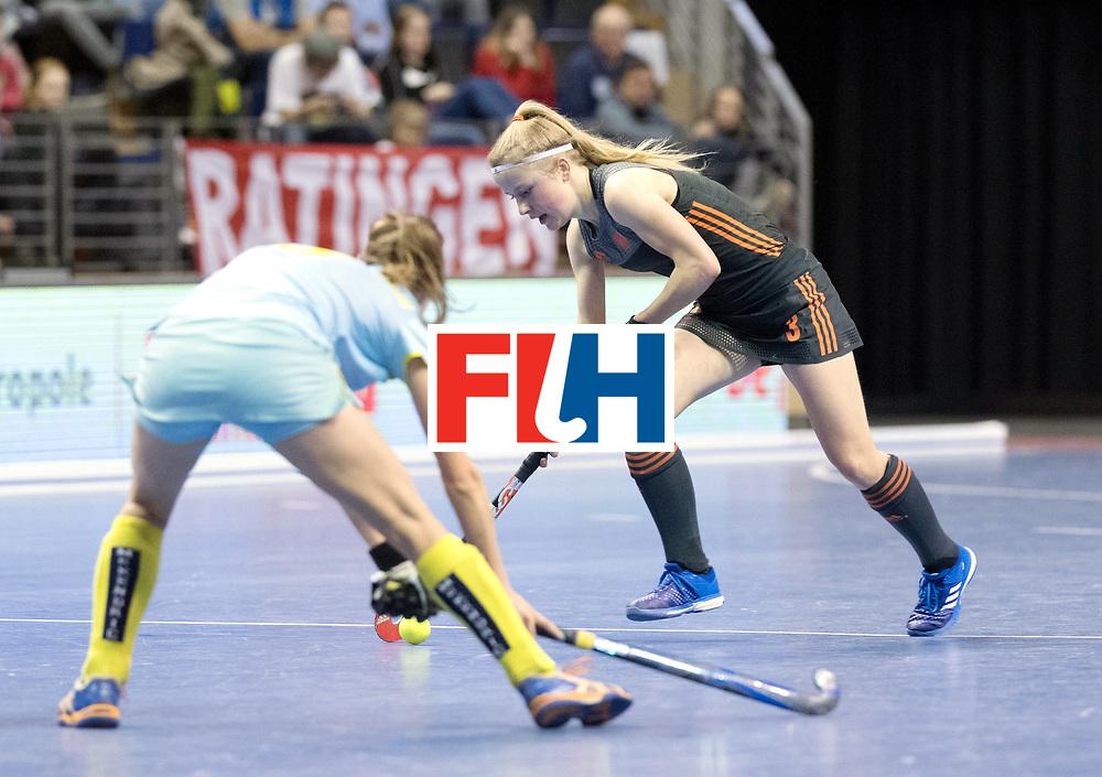 BERLIN - Indoor Hockey World Cup<br /> SF1 Netherlands - Ukraine<br /> foto: Gabrielle Mosch <br /> WORLDSPORTPICS COPYRIGHT FRANK UIJLENBROEK