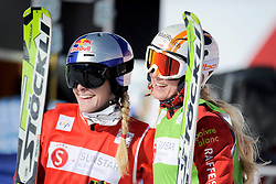 07.03.2014, Carmenna Extrempark, Arosa, SUI, FIS Weltcup Ski Cross, Arosa, im Bild Fanny Smith, Sanna Luedi (SUI) // during the FIS Ski Cross World Cup Carmenna Extrempark in Arosa, Switzerland on 2014/03/07. EXPA Pictures © 2014, PhotoCredit: EXPA/ Freshfocus/ Claudia Minder<br /> <br /> *****ATTENTION - for AUT, SLO, CRO, SRB, BIH, MAZ only*****