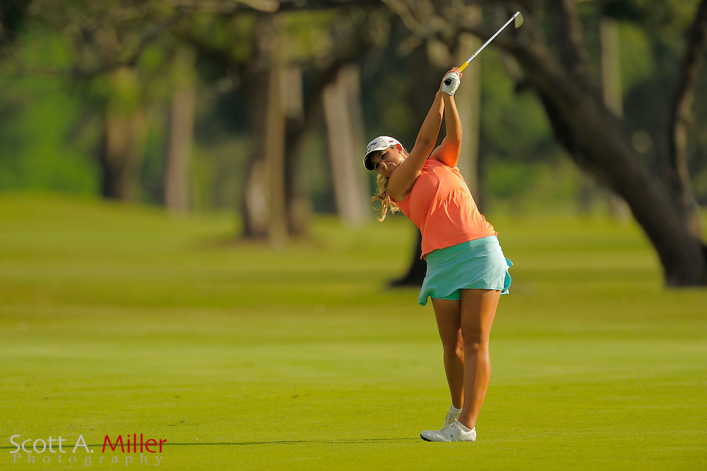 Jordan Ontiveros during second round of the Symetra Tour's Guardian Retirement Championship at Sara Bay in Sarasota, Florida April 27, 2013. ..©2013 Scott A. Miller