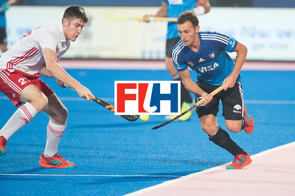 Odisha Men's Hockey World League Final Bhubaneswar 2017<br /> Match id:14<br /> England v Argentina , Quater Final<br /> Foto: Lucas Vila (Arg) and Liam Sanford (Eng)<br /> WSP COPYRIGHT KOEN SUYK
