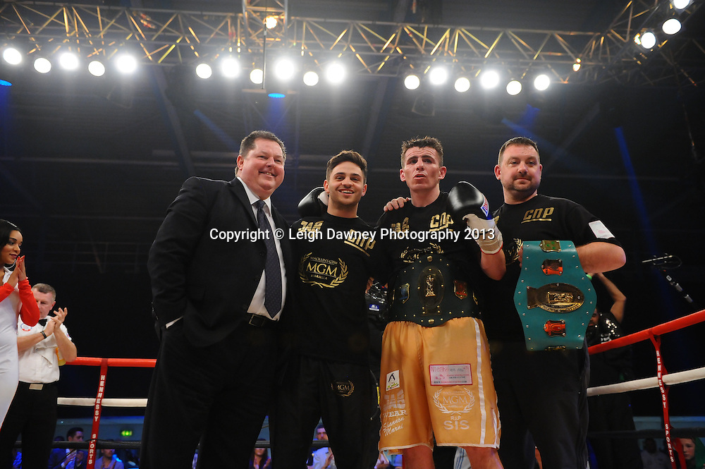 Peter McDonagh defeats John Hutchinson to claim the Vacant Irish Light Middleweight Title on 15th March 2014 at the Rivermead Leisure Centre, Reading, Berkshire. Promoted by Hennessy Sports. © Leigh Dawney Photography 2014.