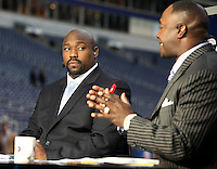 December 2008: Pictures from the NFL Total Access set in Various cities for the 2008 NFL Network Season. Warren Sapp and Sterling Sharpe.