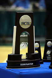 20 March 2010: The Spoils of 2nd place in the nation sits on the presentation table awaiting its new home. The Flying Dutch of Hope College fall to the Bears of Washington University 65-59 in the Championship Game of the Division 3 Women's NCAA Basketball Championship the at the Shirk Center at Illinois Wesleyan in Bloomington Illinois.