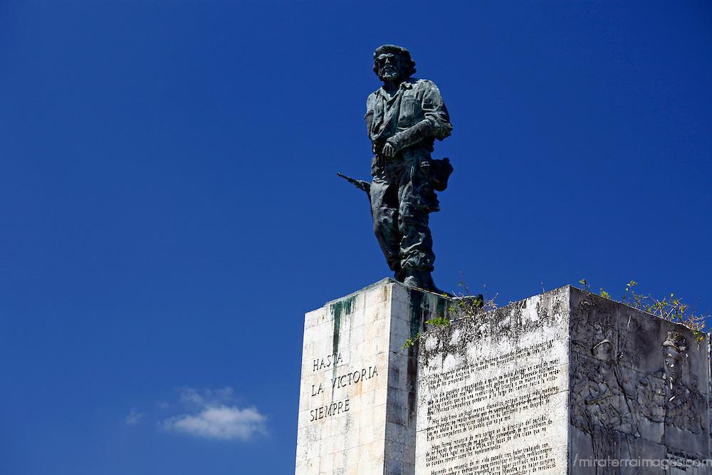 Central America, Cuba, Santa Clara. Statue of Ernesto Che Guevara at the Che Guevara Memorial and Museum.