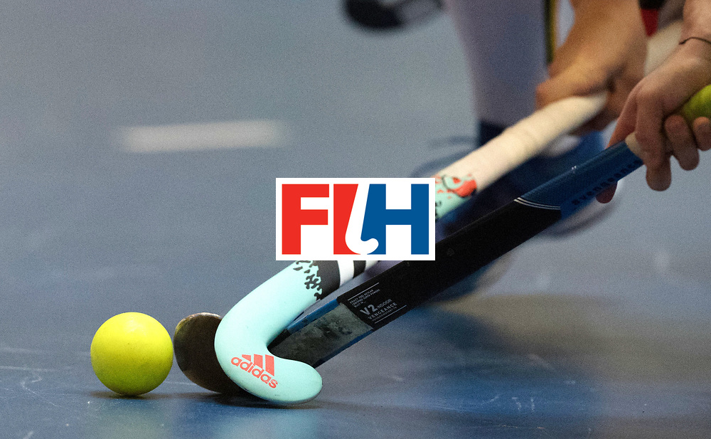 BERLIN - Indoor Hockey World Cup<br /> Austria - Belgium<br /> foto: <br /> WORLDSPORTPICS COPYRIGHT FRANK UIJLENBROEK