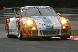 25.06.2011, GER, Motorsport, 24 H Rennen Nürburgring, im Bild Porsche Team Manthey (Joerg BERGMEISTER, Richard LIETZ, Marco HOLZER, Patrick LONG).., EXPA Pictures © 2011, PhotoCredit: EXPA/ A. Neis