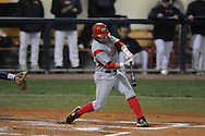 Western Kentucky's Casey Dykes hits an RBI single at Oxford-University Stadium in Oxford, Miss. on Wednesday, March 9, 2010.