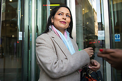 © Licensed to London News Pictures. 11/02/2018. London, UK. Former Secretary of State for International Development Priti Patel outside BBC Broadcasting House. Photo credit: Rob Pinney/LNP