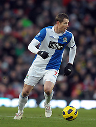 Brett Emerton (Blackburn) during the Barclays Premier League match between Manchester United and Blackburn Rovers at Old Trafford on November 27, 2010 in Manchester, England.