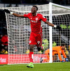 Tammy Abraham of Bristol City celebrates scoring a goal to make it 3-0 - Mandatory by-line: Robbie Stephenson/JMP - 11/02/2017 - FOOTBALL - iPro Stadium - Derby, England - Derby County v Bristol City - Sky Bet Championship