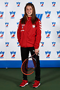 Warsaw, Poland - 2017 December 08: Tennis player Maja Chwalinska from Poland poses while Photo Session of Fed Cup Team of Polish Tennis Association at Mera Tennis Club on December 08, 2017 in Warsaw, Poland.<br /> <br /> Mandatory credit:<br /> Photo by &copy; Adam Nurkiewicz / Mediasport<br /> <br /> Adam Nurkiewicz declares that he has no rights to the image of people at the photographs of his authorship.<br /> <br /> Picture also available in RAW (NEF) or TIFF format on special request.<br /> <br /> Any editorial, commercial or promotional use requires written permission from the author of image.