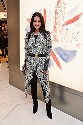 XENIA TCHOUMI at the launch of the new Giusepe Zanotti store in Conduit Street, London on 26th October 2016.