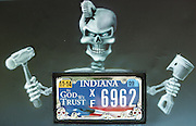 David W. Smith/ Daily News<br /> A 1931 Model A owned by Roscoe Todd from Vincennes IN, has a mixed message around its license plate. It was spotted during the Hot Rod Reunion Thursday at Beech Bend Campground.