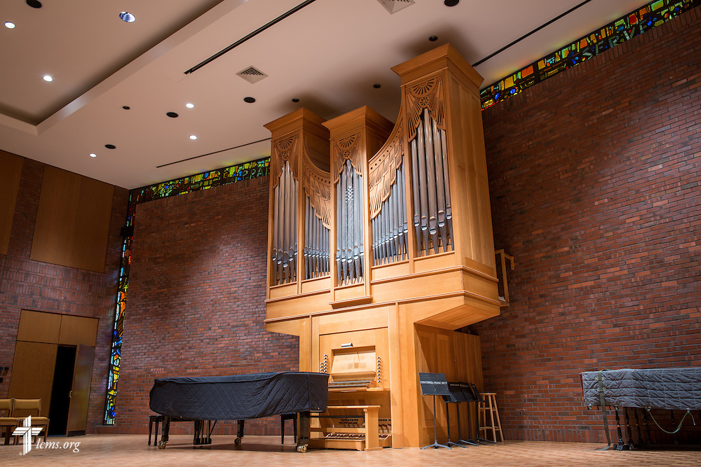 The organ in the chapel of the Sommer Center for Worship and Performing Arts at Concordia College New York on Saturday, July 19, 2014, in Bronxville, NY. LCMS Communications/Erik M. Lunsford