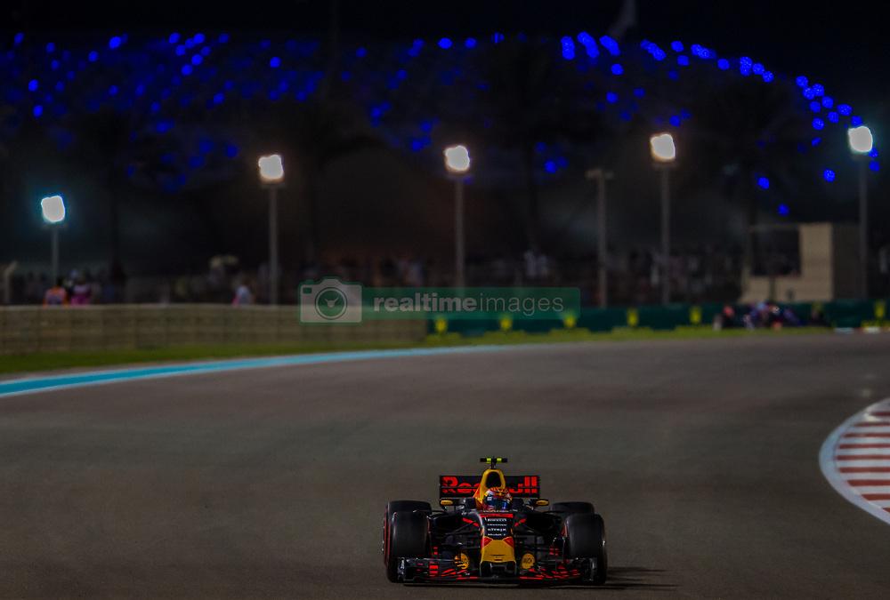 November 26, 2017 - Abu Dhabi, United Arab Emirates - Max Verstappen of Netherland and Red Bull Racing Team driver goes during the race at Formula One Etihad Airways Abu Dhabi Grand Prix on Nov 26, 2017 in Yas Marina Circuit, Abu Dhabi, UAE. (Credit Image: © Robert Szaniszlo/NurPhoto via ZUMA Press)
