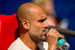 August 5, 2018 - Joseph Guardiola manager of Manchester City drinks water Joseph Guardiola manager of Manchester City during the 2018 FA Community Shield match between Chelsea and Manchester City at Wembley Stadium, London, England on 5 August 2018. (Credit Image: © AFP7 via ZUMA Wire)