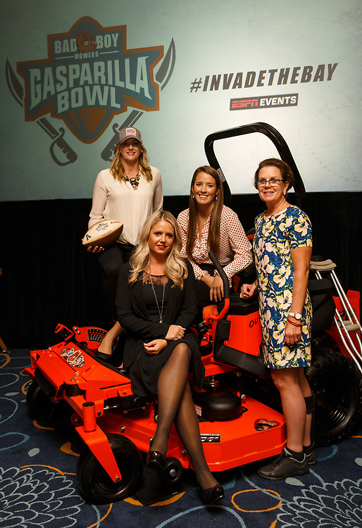 Bag Boy Mowers signs on as Gasparilla Bowl title sponsor at a luncheon for the St. Pete Bowl at the Hilton Carillon in St. Pete, Fla., on Wednesday, August 23, 2017.  / (August 23, 2017; Photo by Casey Brooke Lawson)