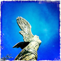 Headless angel with wings, art detail, iphone, hipsta, California.