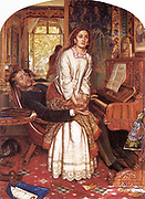 The Awakening Conscience (1853) by  William Holman Hunt (1827-1910) Medium : Oil on Canvas