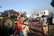 23 August 2011. Rebels in Bab Al Azizia the main stronghold of Gheddafi.