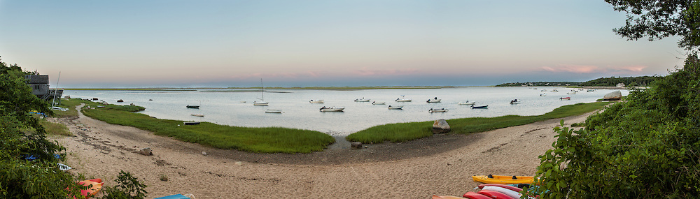 Nauset Harbor as viewed from the town landing at the end of Tonset Road, East Orleans.