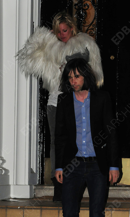 07.MAY.2009 - LONDON<br /> <br /> KATE MOSS GOES OUT TO DINNER WITH EX-BOYFRIEND BOBBY GILLESPIE TO INDIAN RESTAURANT MALABAR IN NOTTING HILL BEFORE GOING TO A FRIENDS IN HOLLAND PARK WHERE THEY STAYED TILL 1.00AM BEFORE BOBBY DROPPED KATE HOME IN CAB.<br /> <br /> BYLINE MUST READ : EDBIMAGEARCHIVE.COM<br /> <br /> *THIS IMAGE IS STRICTLY FOR UK NEWSPAPERS &amp; MAGAZINES ONLY*<br /> * FOR WORLDWIDE SALES &amp; WEB USE PLEASE CONTACT EDBIMAGEARCHIVE - 0208 954-5968*