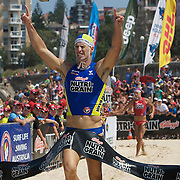 Shannon Eckstein winning the Men's Final during the Kellog's Nutri-Grain Iron Man series at Coogee Beach, Sydney, Australia on February 22, 2009.  Photo Tim Clayton