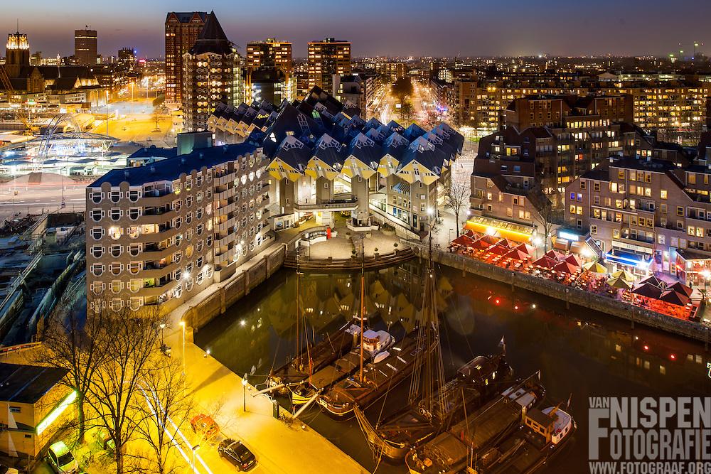 Oude haven en kubus woningen, Rotterdam