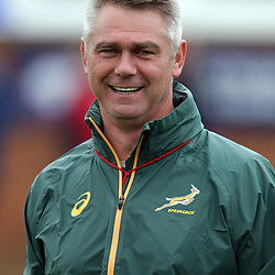 EASTBOURNE, ENGLAND - SEPTEMBER 14: Heyneke Meyer (Head Coach) of South Africa during the 2015 Rugby Wolrd Cup Springboks training session at Eastbourne College on September 14, 2015 in Eastbourne, England. (Photo by Steve Haag Emirates)