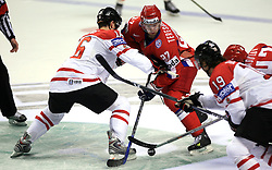 Jonathan Toews (16) of Canada vs Alexei Tereshchenko (27) of Russia at  ice-hockey game Canada vs Russia at finals of IIHF WC 2008 in Quebec City,  on May 18, 2008, in Colisee Pepsi, Quebec City, Quebec, Canada. Win of Russia 5:4 and Russians are now World Champions 2008. (Photo by Vid Ponikvar / Sportal Images)