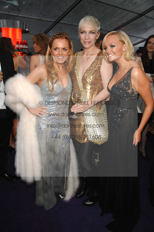 Left to right, GERI HALLIWELL, ANNIE LENNOX and EMMA BUNTON at the 2008 Glamour Women of the Year Awards 2008 held in the Berkeley Square Gardens, London on 3rd June 2008.<br />