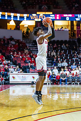 NORMAL, IL - February 15: DJ Horne shoots a three pointer during a college basketball game between the ISU Redbirds and the Valparaiso Crusaders on February 15 2020 at Redbird Arena in Normal, IL. (Photo by Alan Look)