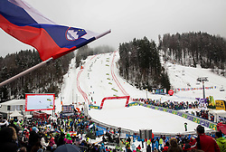Finish area during the 2nd Run of 10th Men's Slalom race of FIS Alpine Ski World Cup 55th Vitranc Cup 2016, on March 6, 2016 in Podkoren, Kranjska Gora, Slovenia. Photo by Vid Ponikvar / Sportida
