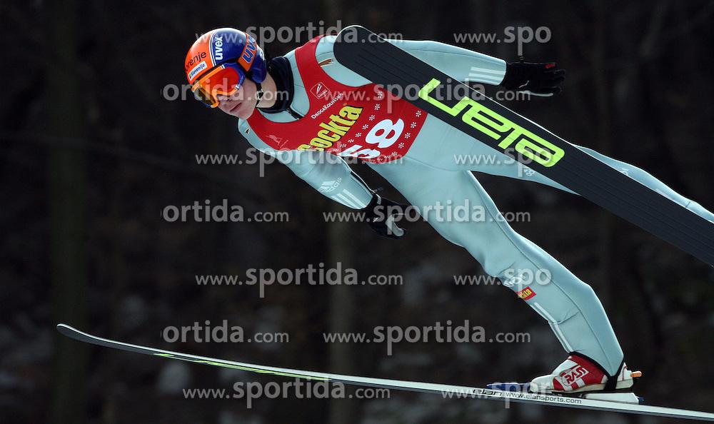 Matej Dobovsek  of  SK Triglav at Slovenian National Championship in Ski Jumping on February 12, 2008 in Kranj, Slovenia . (Photo by Vid Ponikvar / Sportal Images).
