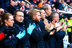 Sheffield United manager Chris Wilder, Sheffield United assistant manager Alan Knill during a minutes applaud - Mandatory by-line: Ryan Crockett/JMP - 24/11/2018 - FOOTBALL - Aesseal New York Stadium - Rotherham, England - Rotherham United v Sheffield United - Sky Bet Championship