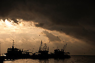 Fishing boats on the docks of Sinop on the Turkish Black Sea